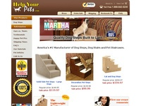 AAA 11056 Help your Pet Get Up and Down with Carpeted Dog Stairs and Steps