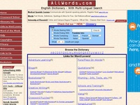 AAA 16416 AllWords Dictionary and Guide to Language Sites